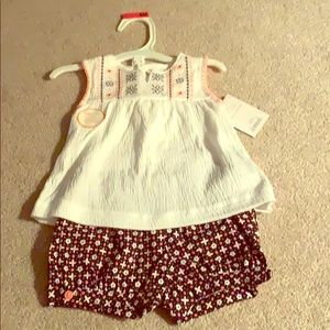 6 Month Baby Girl 2PC Short Outfit